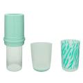Wasserflasche aus Kunststoff doppelwandig mit Schleife