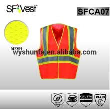 Chaleco reflectante de alta visibilidad chaleco chaleco de seguridad chaleco reflectante de seguridad 100% poliéster
