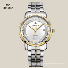 Two Tone Plating Stainless Steel Quartz Business Men′s Watch 72134