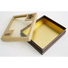 PVC-Fenster-Verpackungs-Papier-Kasten für Schokoladen-Schmucksache-Kuchen