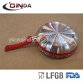 Griffe Pfannen Pizza Pfanne Reis Pfanne Antihaft-Silikon-Backmatte gesetzt