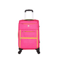 Pink woman soft polyester trolley luggage