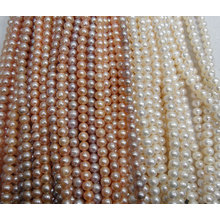 9-10mm Potato/ Nearly Round Freshwater Pearl Strands (ES379)