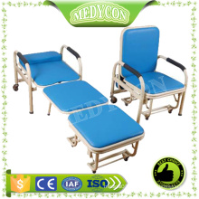 BDEC101 Metal frame And PVC Surface Hospital Foldable Medical Bed