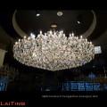grands lustres en cristal chinois pour des hôtels, lustre en cristal de grand projet LT-81173