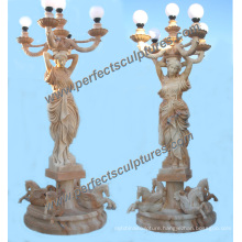 Garden Carved Stone Lantern Sculpture for Marble Carving Statue (SY-X1707)