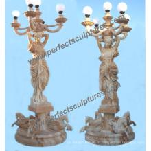 Сад резной камень фонарь скульптура для мрамора резьба статуя (SY-X1707)