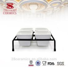 Atacado de porcelana fina fina outros utensílios de mesa, condimento branco conjunto