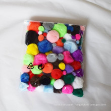 diy handmade accessories,craft pom pom,colorful pompom