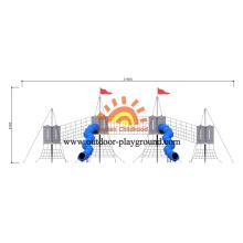 HPL Multifunktionspark Spielzeug Spielplatz Mit Spiralrutsche