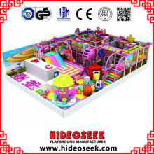 Candy Theme Indoor Playground Equipment con artículos eléctricos