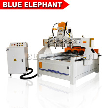 Hot sale multi spindle 4 axis cnc router 0809 , woodworking machine with rotary device