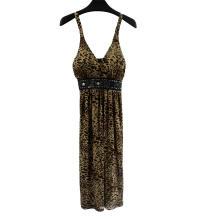 Vestido estampado leopardo clube para senhoras