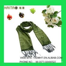 LT Green Jaquard scarves for ladies
