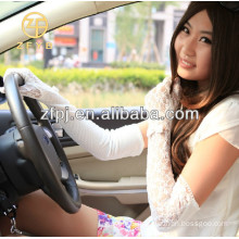 ladies long sun protection lace gloves for driving