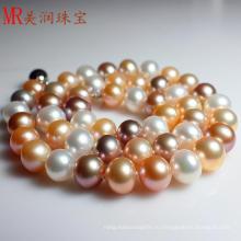 Смешанное натуральное натуральное пресноводное жемчужное ожерелье (EN1428)
