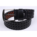 Light Tan Braided PU Handmade Men and Women Fashion Belt