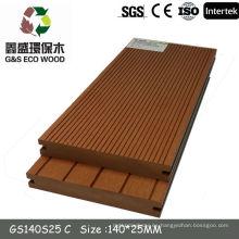 Tablero de madera compuesto plástico de la construcción wpc el suelo