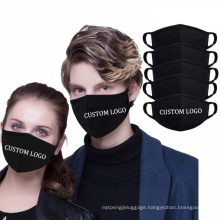 Fast Delivery Custom Logo Brand Reusable Washable Men Women Adult Kids Size Mix Color Cotton Polyester Face Maskes Protective Face Mask