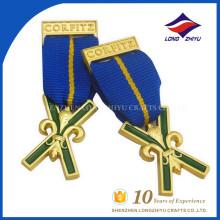 2017 fábrica venda quente mais nova medalhas de honra de X forma personalizada