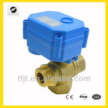 DC12V DC5V dn15 dn20 brass motorized 3-way brass valve