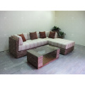 WAIS-304 Top selling Natural wicker water hyacinth living sofa set 2017 for Living home Indoor furniture