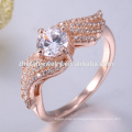 Unique silver 925 ring rose gold plating ring
