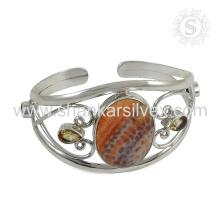Подгонянная Multi драгоценных камней серебряный браслет 925 серебряные ювелирные изделия ручной работы ювелирные изделия оптовик