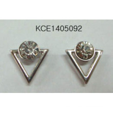 Triangle Gem Earrings with Metal