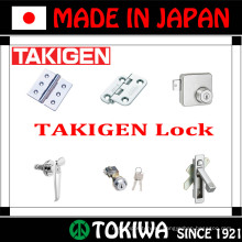 Wide range of hinge, lock, stay and handle products. Manufactured by Takigen Mfg. Co., Ltd. Made in Japan (TAKIGEN lock)