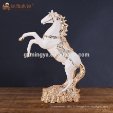 Vente en gros artisanat artisanat polyresin cheval figurine sculptures