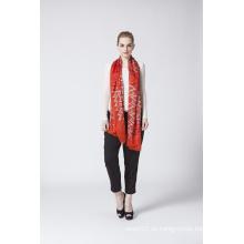 Rot Klassische Seide Modal Hijab