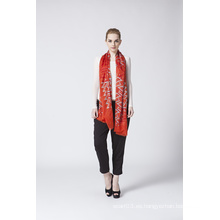 Seda Clásica Roja Modal Hijab