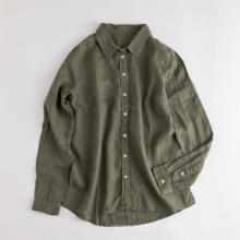 Camisas casuales para mujer Blusa de lino de manga larga para mujer