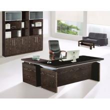 Melamina moderno escritorio de vidrio templado