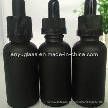Pintura Negro Único aceite esencial botellas de vidrio