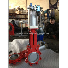 FULL LUG KNIFE GATE VALVE WITH AIR ACTUATED