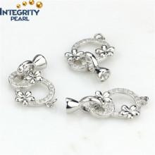 Schmuck Zubehör Halskette Verschluss Sterling Silber Verschluss Blumen Verschluss Schließe