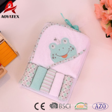 Animal Hooded Towel and Washcloth 6PC Set