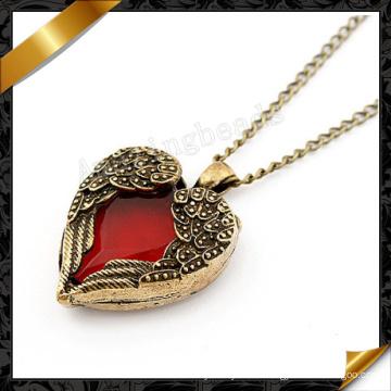 Кулон ожерелья сердца крыла ангела, ювелирные изделия оптового ожерелья (FN010)