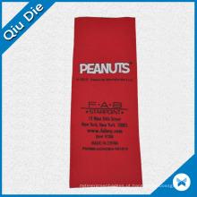 Etiqueta de etiqueta de origem de cetim vermelho Ribbion para meias / chapéus / vestuário