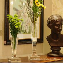 Edle europäische Kristallglas Blumenvase Craft