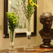 Noble European Crystal Glass Flower Vase Craft