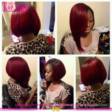 Color #1b/#99j brazilian hair wig length of 12inch small layer top sale cheap short bob style human hair wig