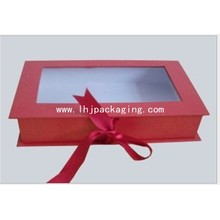Custom Book Shape Cosmetic Paper Box with Window