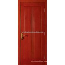 Acabado madera puertas interiores MDF tallada barato con núcleo hueco