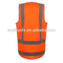 Utilisation du jour et de la nuit, gilets de sécurité avec des bandes réfléchissantes de 3M, gilets de haute visibilité, équipements de travail