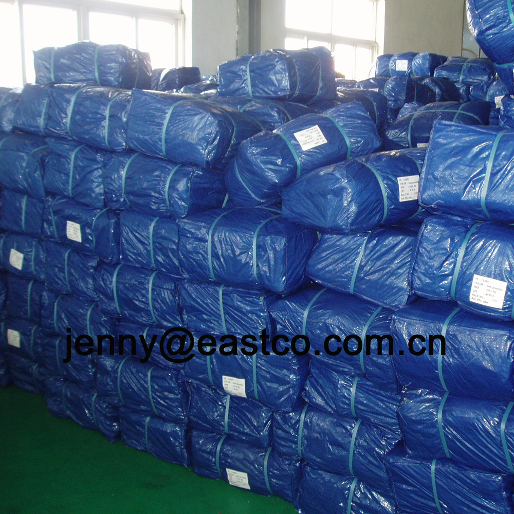 UV Blue Tarpaulin packed in Bale