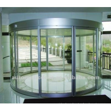 Automatic sliding arc wall door