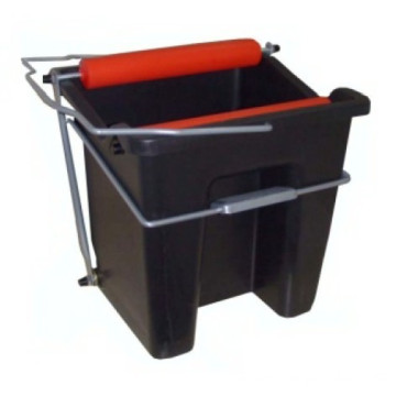 Wringer mop bucket with plastic handle